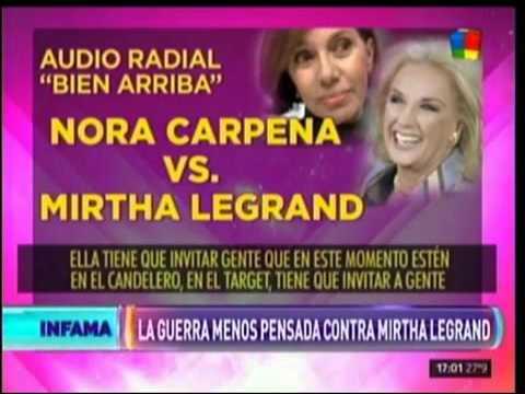 Mirtha Legrand le contestó a Nora Cárpena: Si no quiere ir a los almuerzos, qué quiere que haga