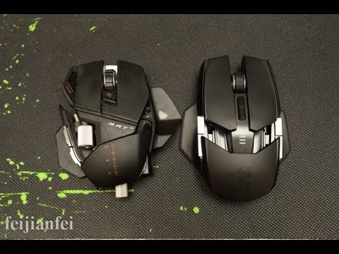 Razer Ouroboros Wireless Gaming Mouse Unboxing and Review (with RAT 9)