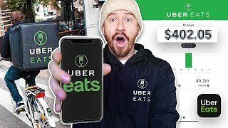 I Was An UBER EATS Driver For A Day And Made $______!?
