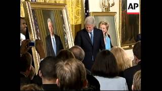 Former president at unveiling of his portrait