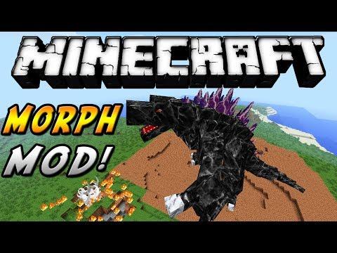 Minecraft - Morph MOD! (Transformate en cualquier cosa. sé Godzilla y más!) - ESPAÑOL TUTORIAL