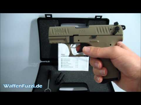 Walther P22Q FDE kal. 9mm P.A.K - Schreckschuss. Gaswaffen Test. Gas Pistole. www.waffenfuzzi.de