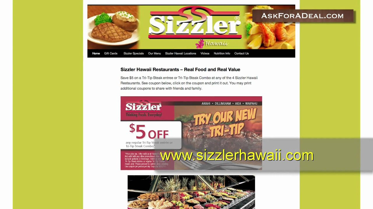 photograph about Sizzler Coupons Printable referred to as Sizzler Discount codes