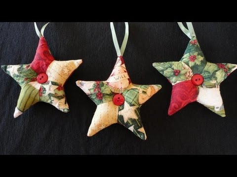 Patchwork Star Ornaments - YouTube