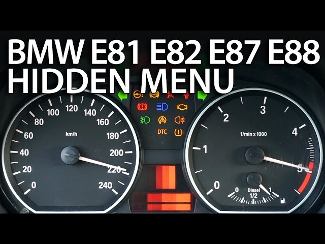 How to enter hidden menu in BMW 1 Series (E81 ... - YouTube