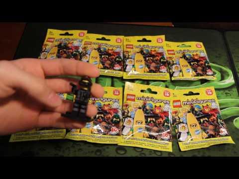 Распаковываем Lego Minifigures Series 16 - 8 штук!