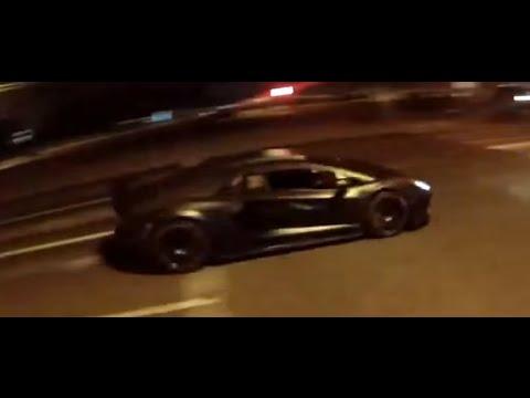 Lamborghini AVENTADOR and cops Moscow, Косыгина, Мотобат, ДПС, Мото погоня Москва. Police.