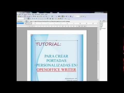 Tutorial para crear portadas en openoffice writer