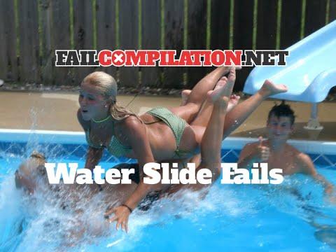 media water slide bikini mishaps