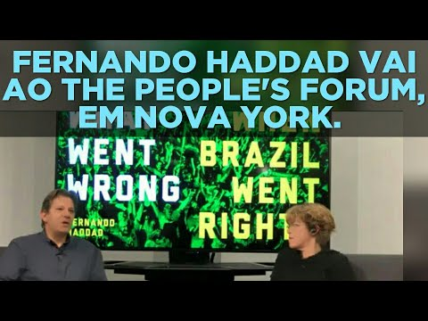 VÍDEO 5824. FERNANDO HADDAD VAI AO THE PEOPLE'S FORUM, EM NOVA YORK.