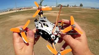 DT140 Space Wolf Brushless Micro FPV Racer Flight Test Review
