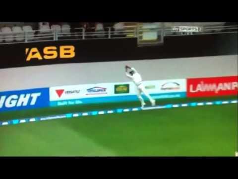 Ravindra Jadeja Stunning Catch!!! - 1st Test Auckland Feb 2014