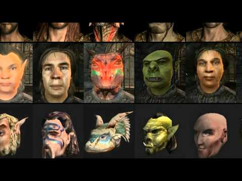 Evolution of Elder Scrolls Races HD Music Videos