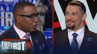 Roman Reigns talks Erick Rowan SmackDown match, playing CFB with Megatron | WWE | FIRST THINGS FIRST