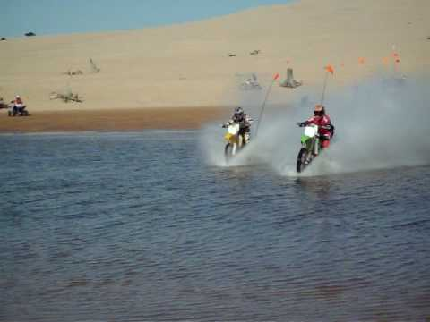 Dirt Bikes On Water sand dunes dirt bike water
