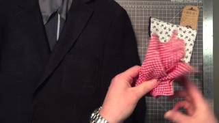 How To Fold a Pocket Square - Puff Fold