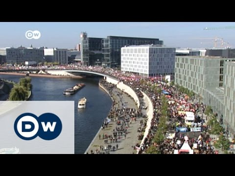 Massive protest against TTIP in Berlin | DW News