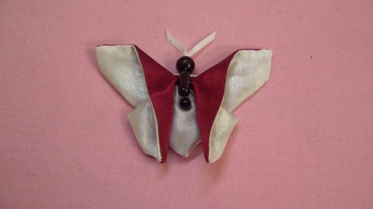 Бабочка из ткани фото пошаговое