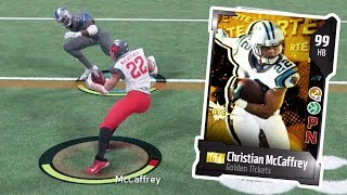 GOLDEN TICKET CHRISTIAN MCCAFFREY JUKES OUT EVERYONE | MADDEN 18 ULTIMATE TEAM GAMEPLAY EPISODE 83