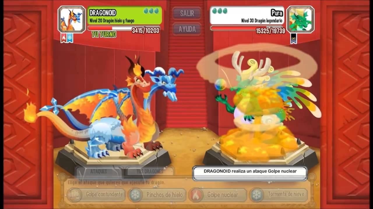 Dragon City Dragon Hielo Y Fuego - YouTube