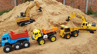 Car Toys For Kids Excavator Dump Truck Bulldozer Construction Vehicles Toys With Baby Dolls