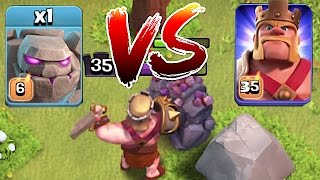 Clash Of Clans 😀 LVL 6 GOLEM Vs. Mr. KING!! 🔸 Death battle🔸