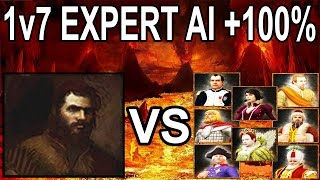 🌟Age of Empires 3 Aklak vs 7x EXPERT AIs with +100℅ Handicap!