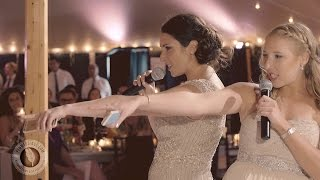 Bride's sisters mashup best wedding toast ever