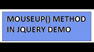 TAMIL MOUSEUP METHOD IN JQUERY DEMO