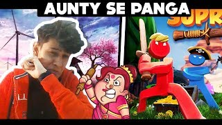 AUNTY SE PANGA IN SUPRALAND GAME || HELLO NEIGHBOUR JESI GAME || FUNNY ANDROID HINDI GAMEPLAY | TITO