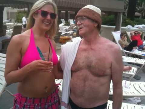 Beanie Bikini Man serenades Elevator Girl