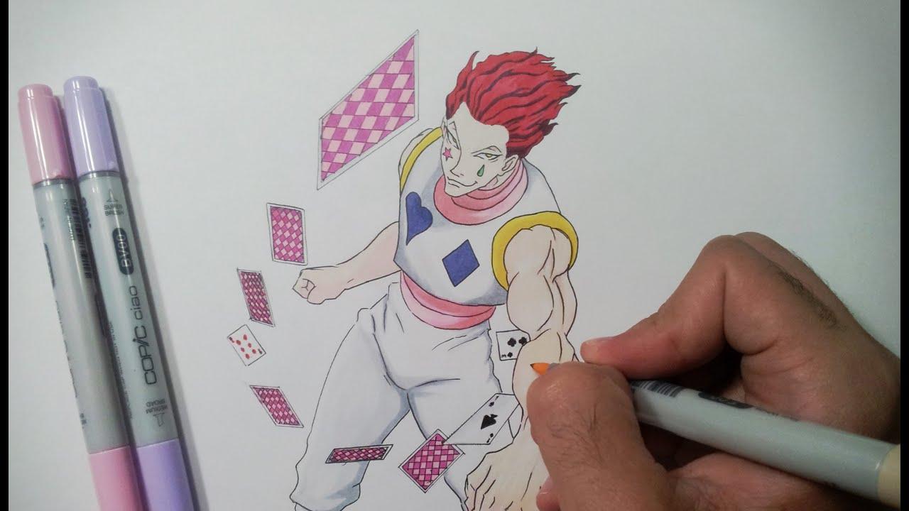 Drawing Hisoka - Hunter x Hunter - YouTube