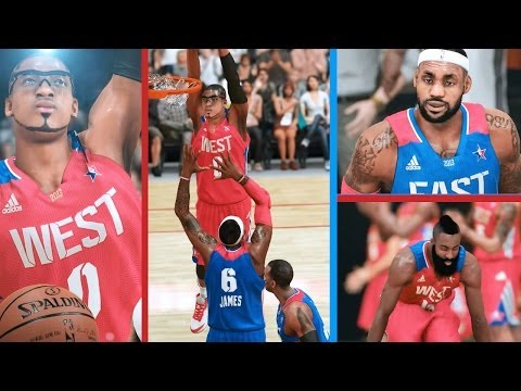 PS4 NBA 2K14 MyCAREER All-Star Game! Dunking On Lebron James! Throwing Lobs!