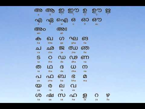 Learn Malayalam Animated Alphabets And Words Malayalam Letters For Children