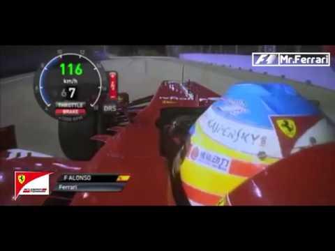 Webber Penalty-Fernando Alonso stops to give Webber a lift-Singapore GP 2013