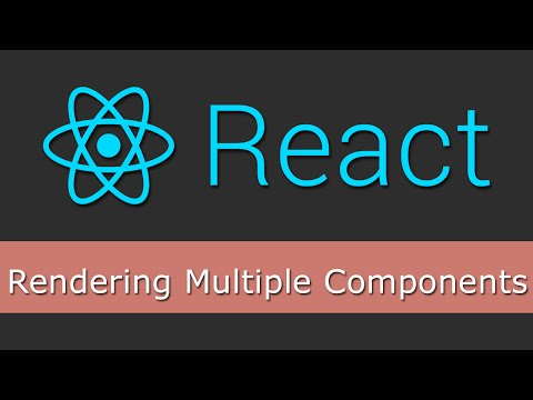 React JS Tutorials for Beginners - 4 - Rendering Multiple Components