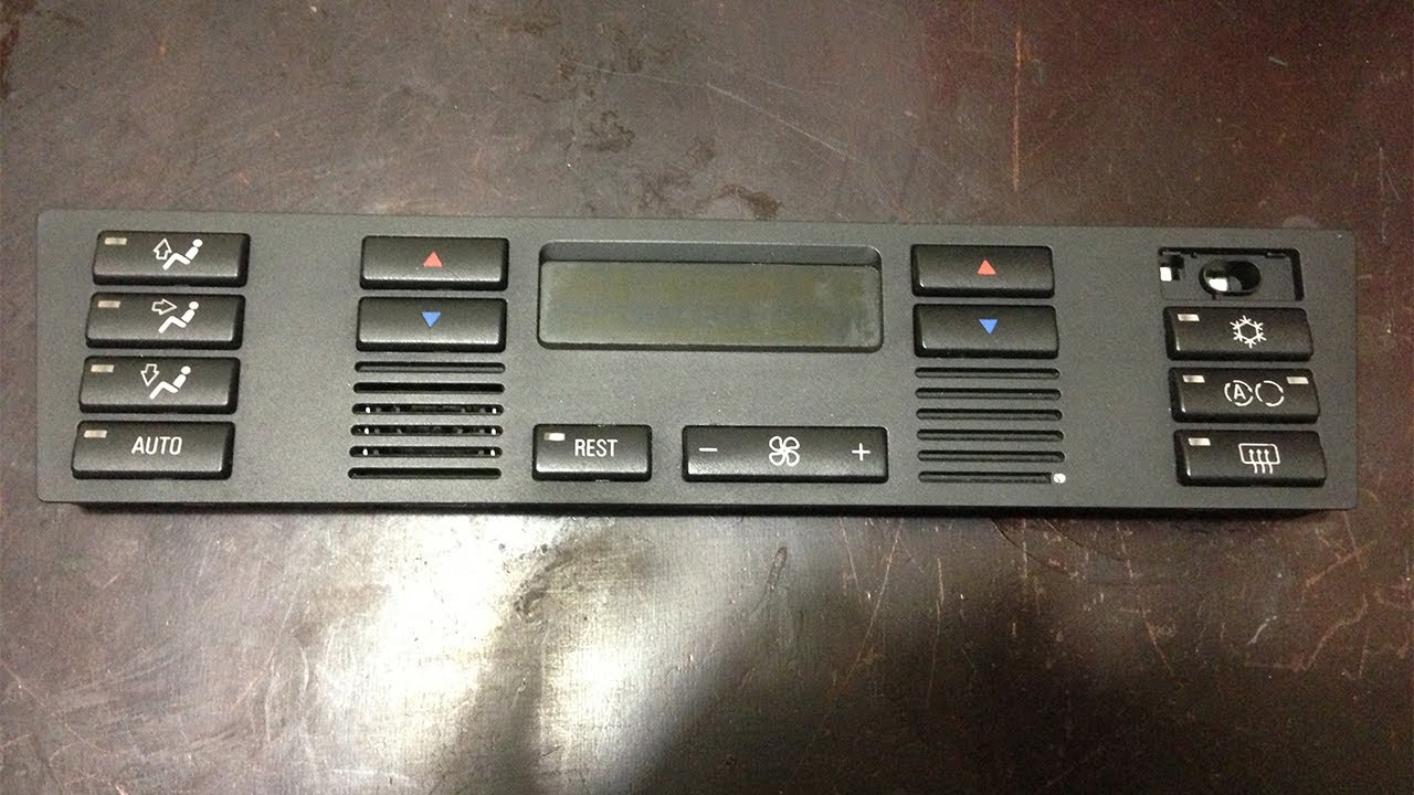 Ac Heater Climate Control Buttons Removal 1997 2000 Bmw