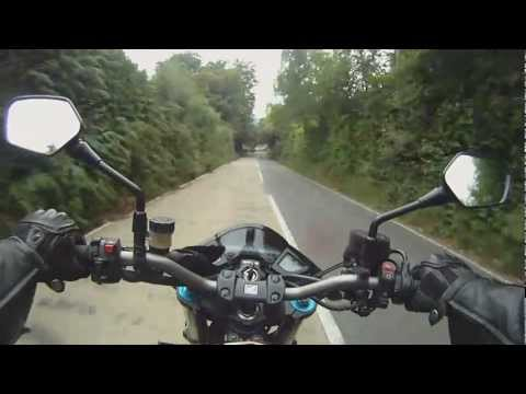 Honda CB1000R - Brands Hatch via country lanes