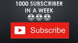Reach 1000 subscribers in 1 week!!! Must see monetize channel. 2019
