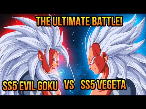 Dragon Ball Z (AF): Super Saiyan 5 Evil Goku VS Super Saiyan 5 Vegeta