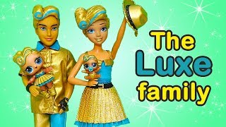 SWTAD LOL Families ! The Luxe Family Plays Hide & Seek | Toys and Dolls Fun Pretend Play for Kids