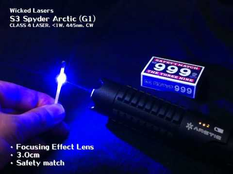 Wicked Lasers S3 Spyder Arctic Burning Tests