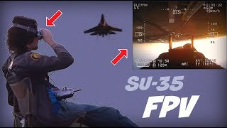 Watch me fly a SU-35 model with 'VR' goggles in split screen! - HD 50fps