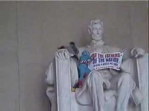 F4J UK Storms the Lincoln Memorial Aug-17-07(1) Video