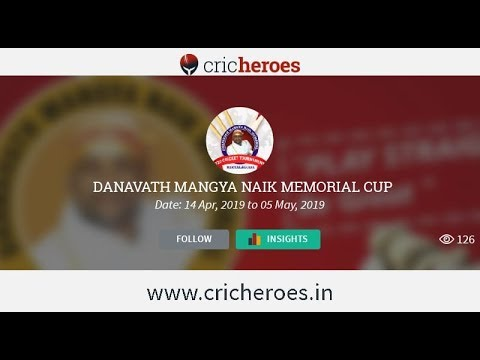 Dhanavath mangya naik memorial cup state level t20 cricket tournament 2nd- 16-04-2019