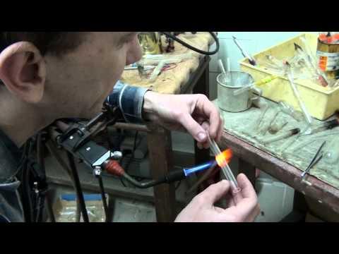 Работа по стеклу в химической лаборатории 2, трубка с разбиваемой перегородкой