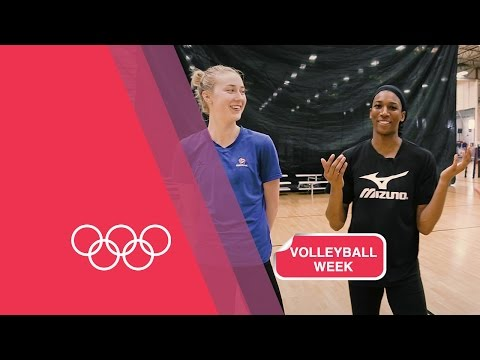Volleyball Serving Challenge with USA Women's Team | Volleyball Week