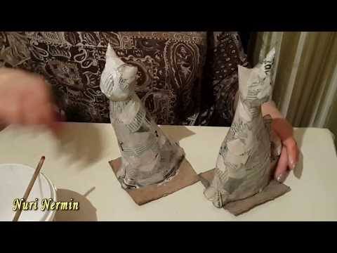 Лепим котика из скульптурного пластилина