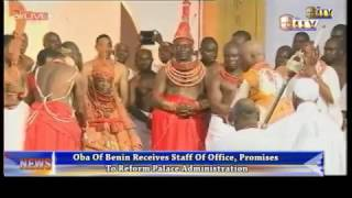 Oba of Benin receives staff of office