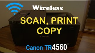 01. How to COPY, PRINT & SCAN with Canon TR4560 all-in-one Printer review ?